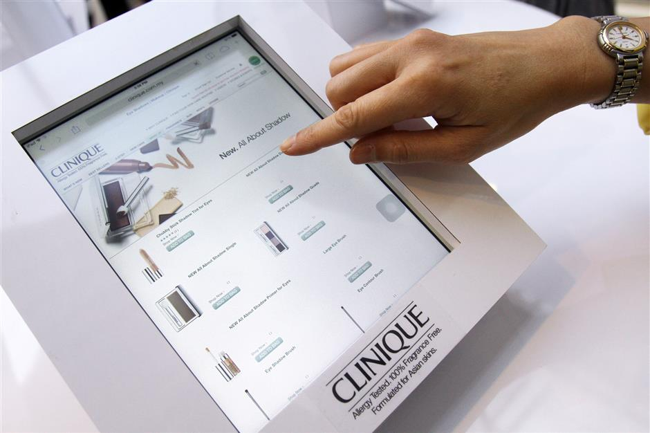 American beauty brand Clinique is the first prestige skincare brand in Malaysia to embark on e-commerce. SHAHRUL FAZRY ISMAIL / THE STAR