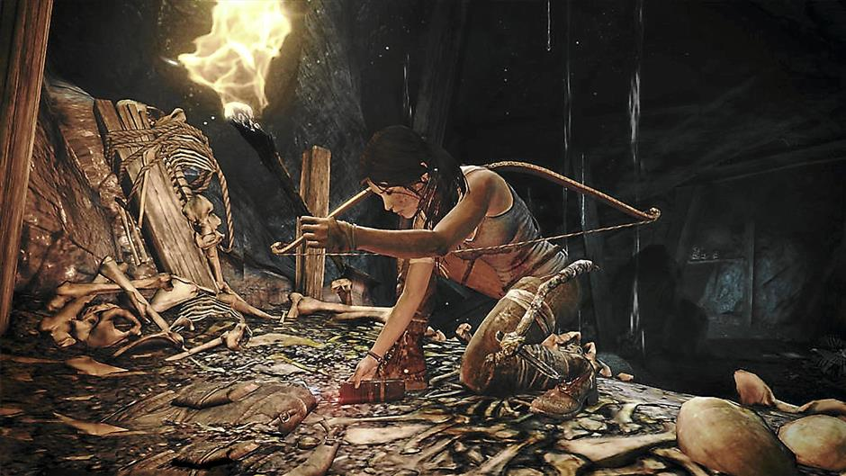 Pick it up: there's a ridiculous amount of stuff that Lara can pick up in the new Tomb Raider