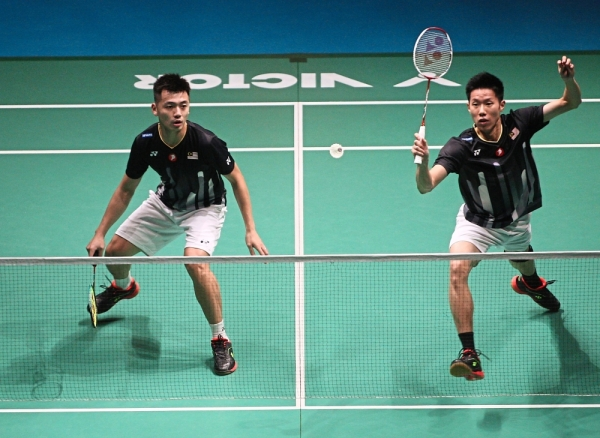 Brutal appraisal: Coach Chew Choon Eng said Tan Wee Kiong (left) and Goh V Shem will have to get their fitness level up to perform consistently in tournaments.