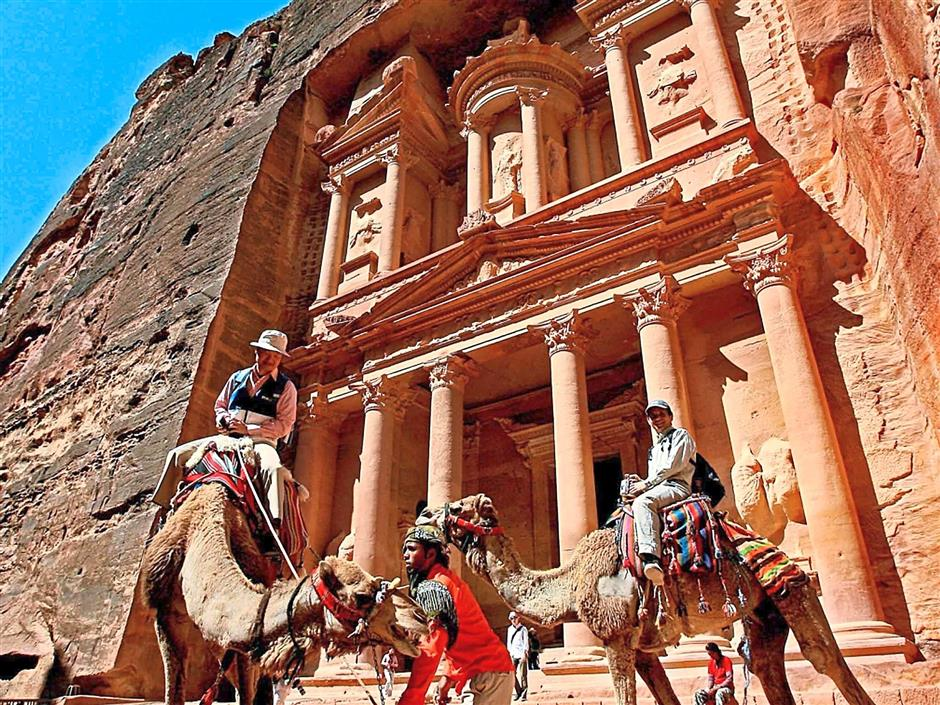 A historical and archaeological city in southern Jordan, Petra has been occupied as early as 9,000BC by the Nabataeans.