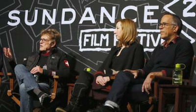 (L-R) US Actor and Festival Founder Robert Redford, Executive Director of the Sundance Institute Kerry Putman and Sundance Festival Director John Cooper attend a press conference at the start of the 2013 Sundance Film Festival in Park City, Utah, USA, 17 January 2013. The festival runs from 17 to 27 January. - EPA