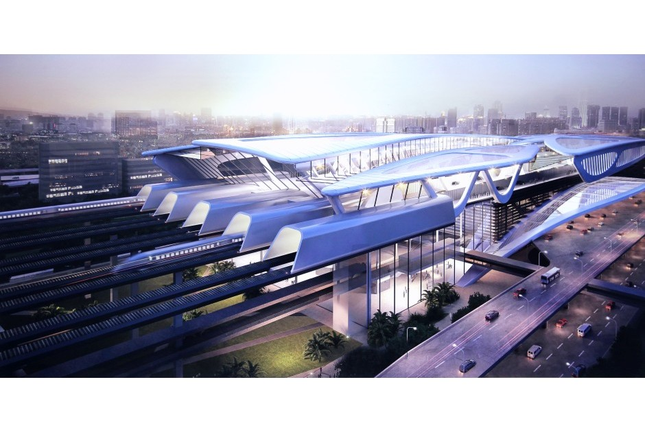 A file picture of a KL-Singapore HSR station concept design.