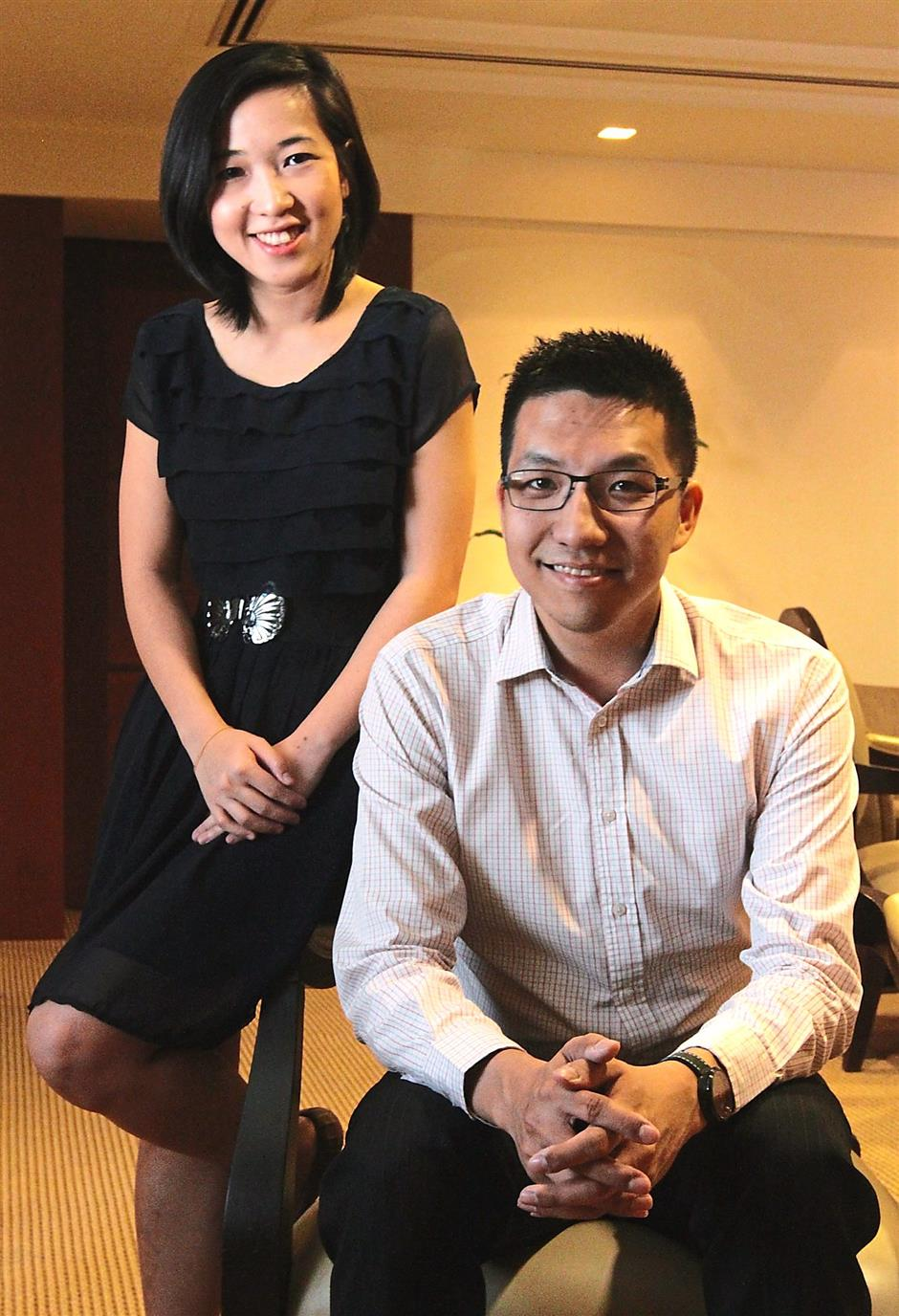 Help's at hand: Former colleagues Loh (left) and Lim developed EduAdvisor to help students.
