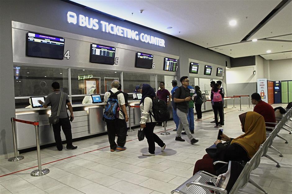 Ticketing booths at Penang Sentral.