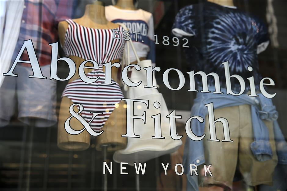 In this May 24, 2018, photo, items are displayed at an Abercrombie and Fitch retail outlet in New York. Abercrombie and Fitch reports earnings on Friday, June 1. (AP Photo/Seth Wenig)