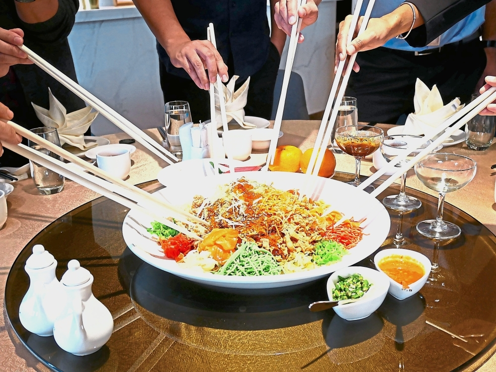Yee Sang is a must-have for this season. Trove Johor Baru has a Salmon Yee Sang with Caviar.