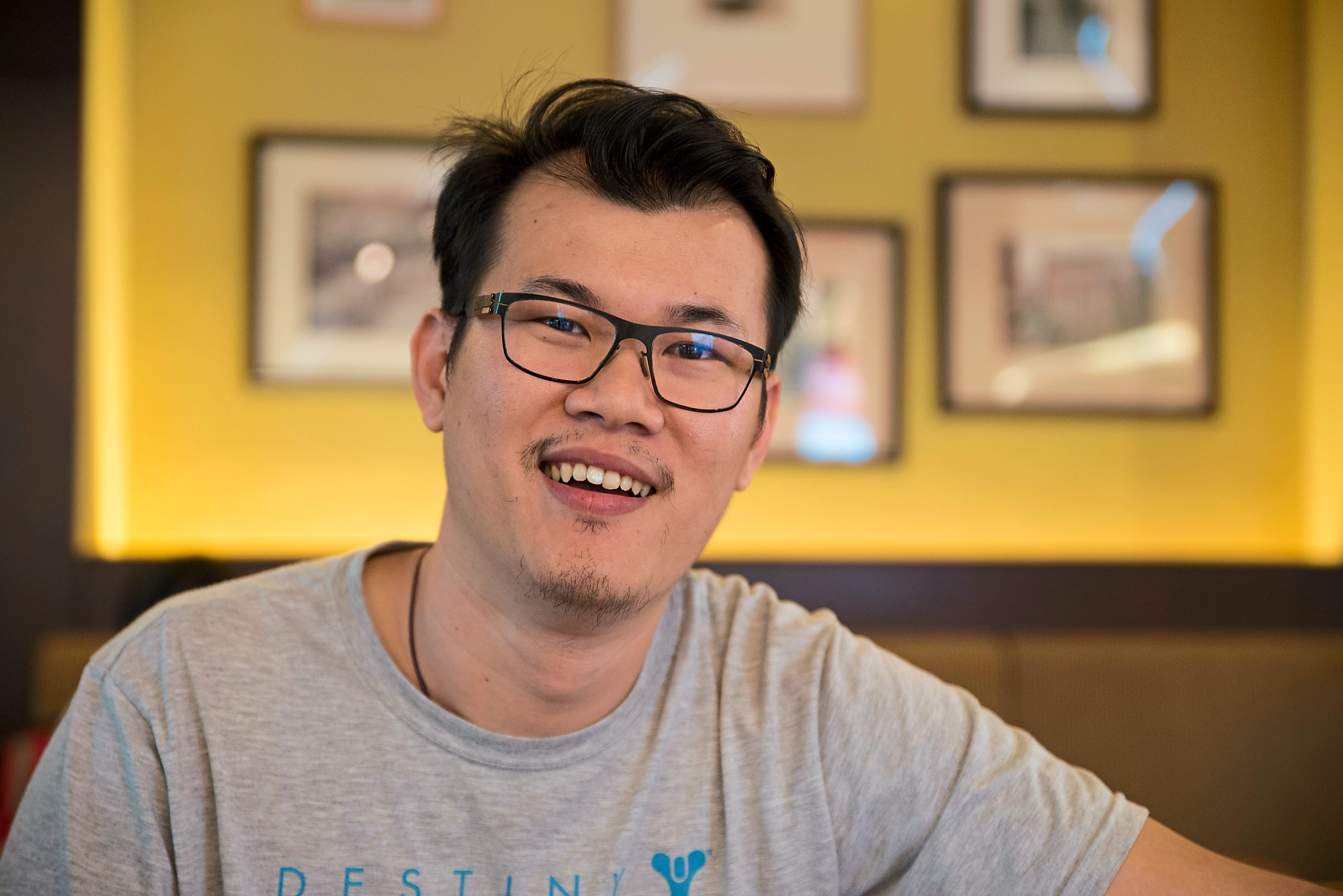 Changing landscape: Eddy Yap, co-owner of Gamers Hideout, says that digital downloads will likely overtake games bought from physical stores in three to five years.