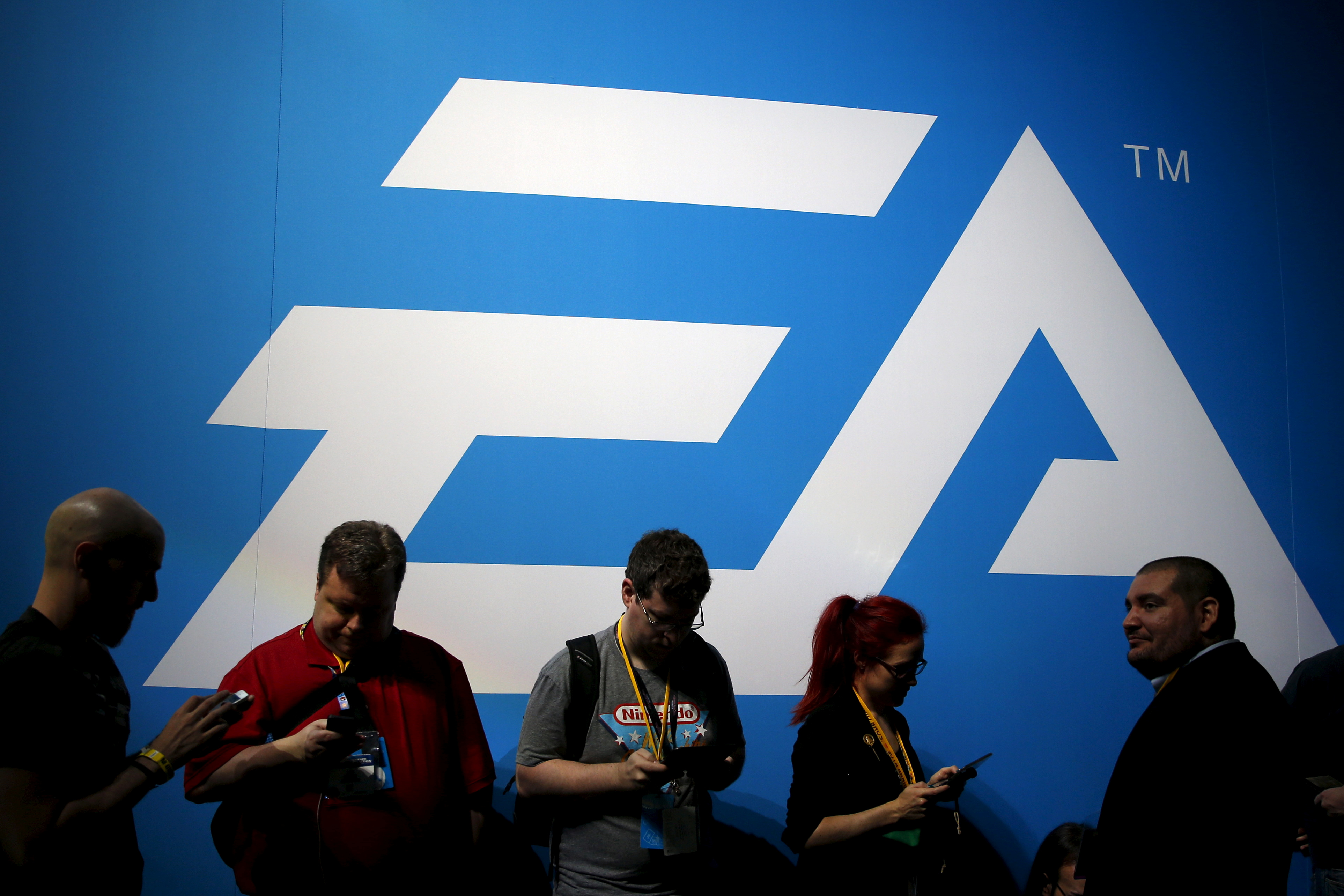 An Electronic Arts (EA) video game logo is seen at the Electronic Entertainment Expo, or E3, in Los Angeles, California, United States, June 17, 2015.  REUTERS/Lucy Nicholson/File Photo