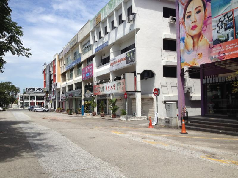 Damansara Uptown was quiet, with many shops still closed for the public holidays.