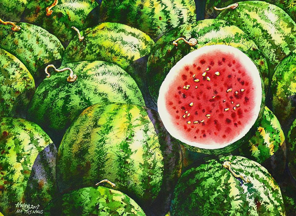 'Watermelon No 5' by Lok Kerk Hwang.