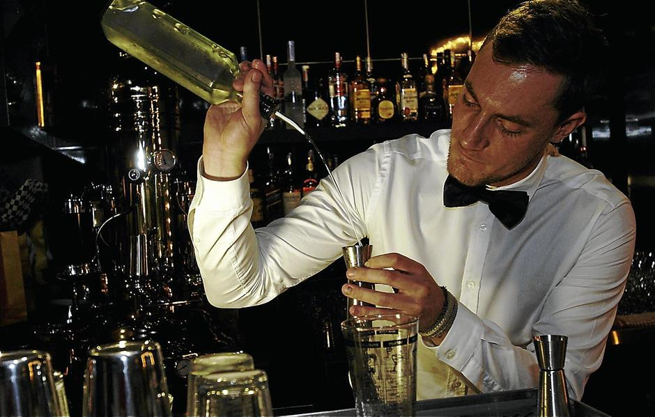 Swift hands: Ivanovic is a world champion English mixologist who began his career in hospitality at the age of 16 in 2005