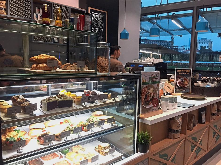 The cafe also offers a wide variety of beverages with coffee being its most popular drink.