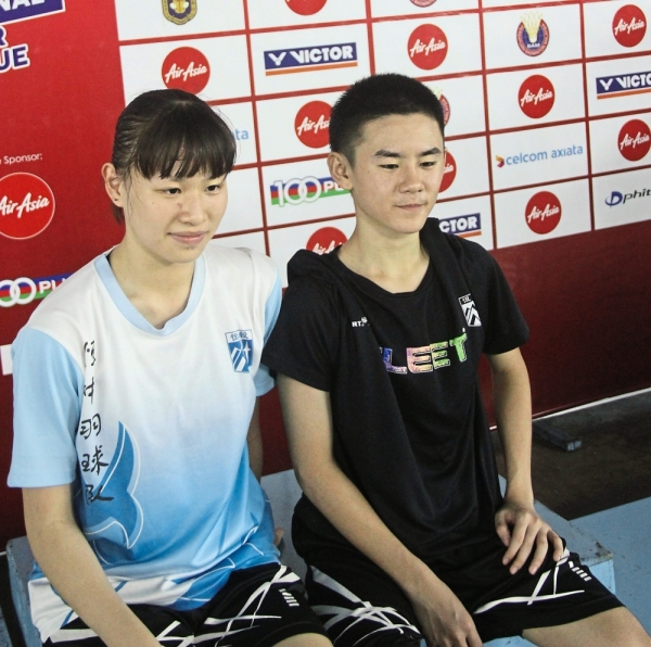Wei Liang (right) and Mei Xin did their respective teams proud in the two-day tournament.