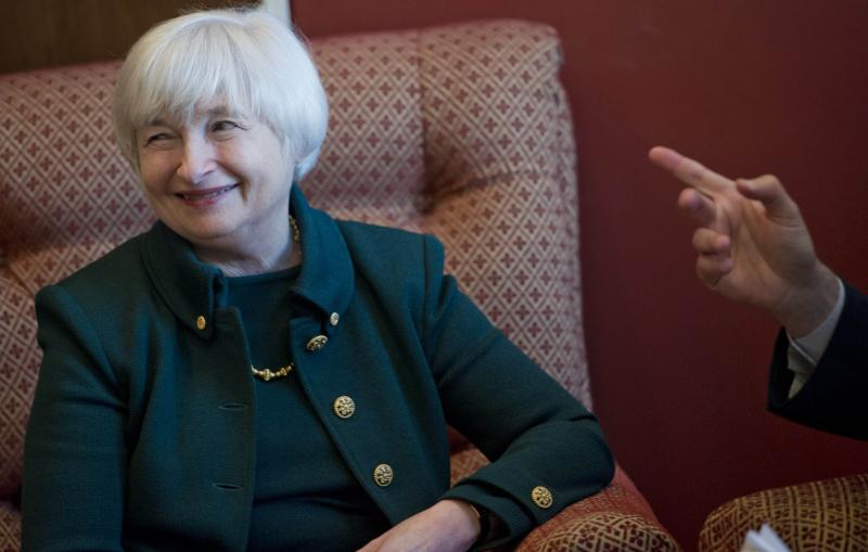 Obama\'s nominee for Federal Reserve chair Yellen\'s testimony before senate on Thursday will be scrutinised for signs of how she feels about the costs and benefits of continued bond-buying - AFP Photo.