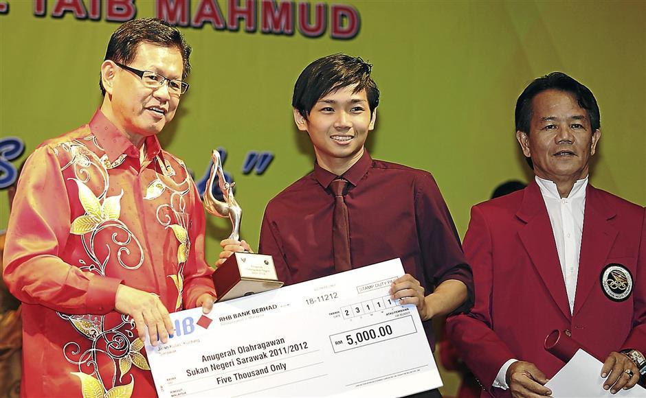 Sarawak Athlete Arward  Brian Nickson LomasZULAZHAR SHEBLEE / THE STAR