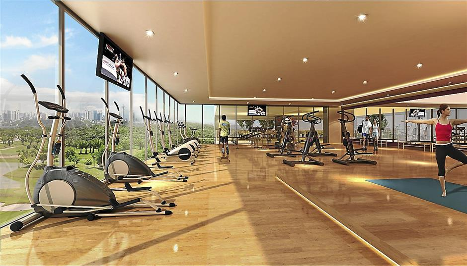 The gym in 8Kinrara Service Apartments.
