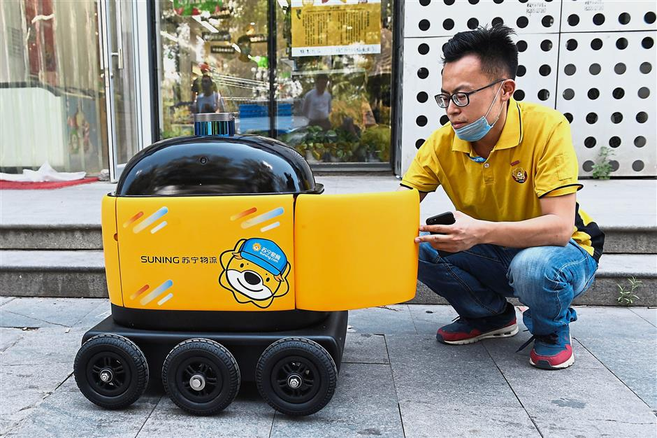 In China, yellow delivery robots may change future of
