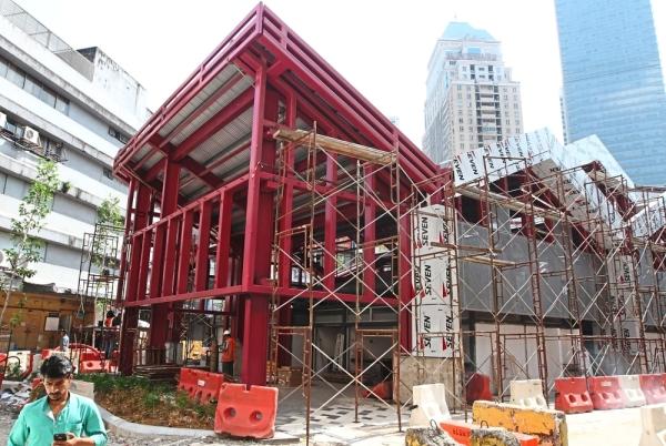 A modern food court taking shape for the Medan Bunus street vendors.