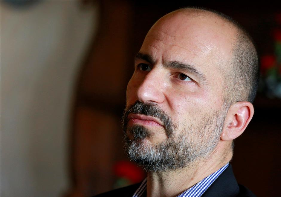 Dara Khosrowshahi, Chief Executive Officer (CEO) of Uber Technologies, speaks with the media in New Delhi, India, February 22, 2018. REUTERS/Saumya Khandelwal