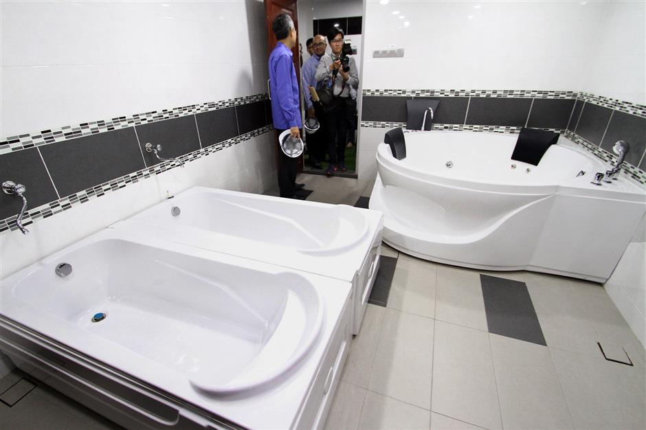 The changing room for players now features a jacuzzi.