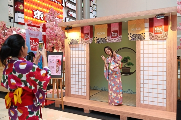 Numerous Japanese-themed corners have been set up on the third and sixth floors of Pavilion Kuala Lumpur for those who love taking photos.
