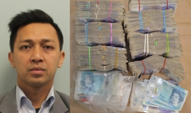 Muhamad Aziz was caught trying to smuggle £150,000 (RM807,300) in cash out of Britain. – Picture taken from the NCA website