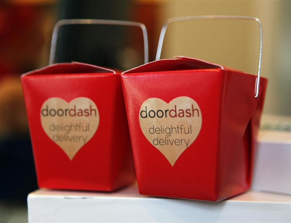 Gift boxes for first-time orders from DoorDash are featured in office, August 21, 2013, in Palo Alto, California. (Nhat V. Meyer/Bay Area News Group)