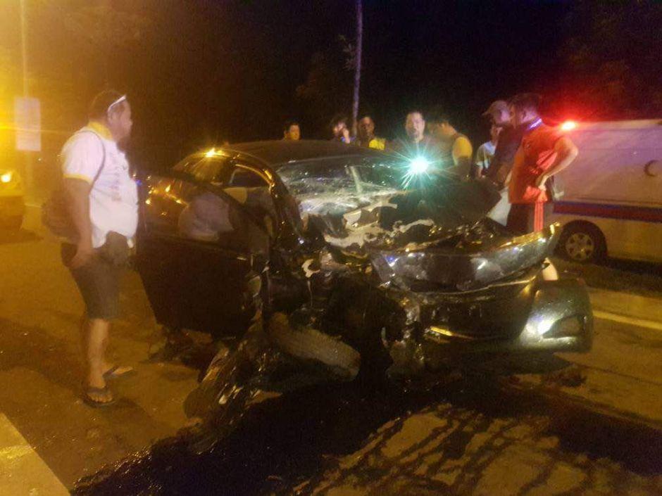 Man killed on the spot in car-van collision at Jalan Tuaran Bypass