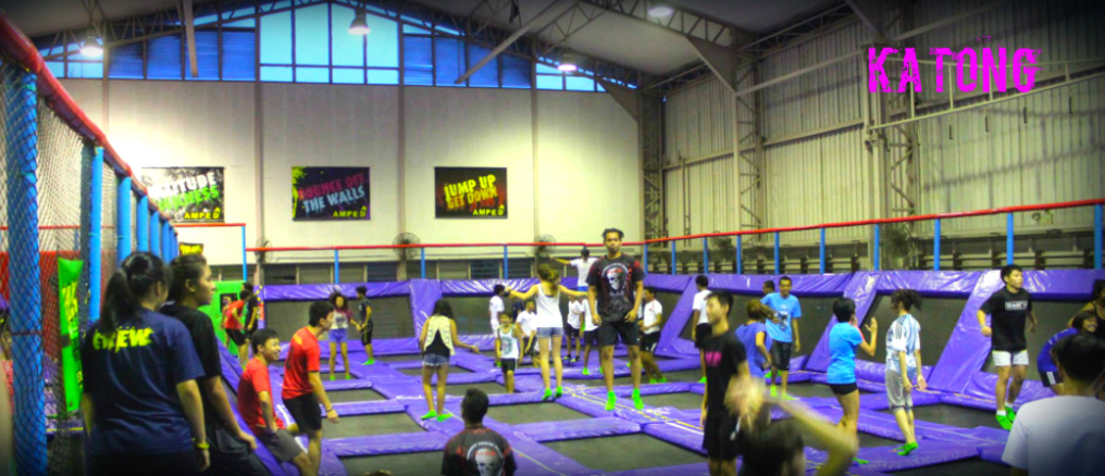 Jump for joy at AMPED Trampoline Park. Photo: AMPED