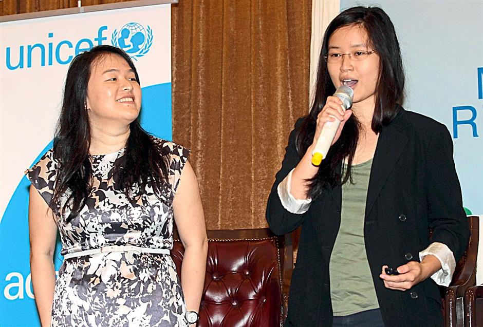 Dynamic duo: Wong (left) and Chong are keen for more girls to break into the tech industry through their coding classes.