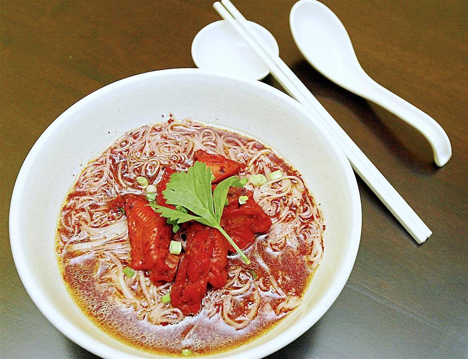 Fuzhou dish: Fuzhou Wine Mee Sua with Chicken
