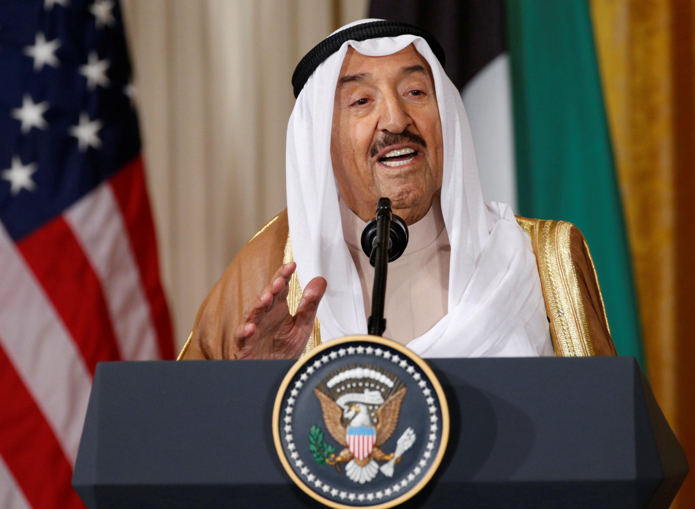 Kuwait emir announces visit to Washington, talks with Trump | The