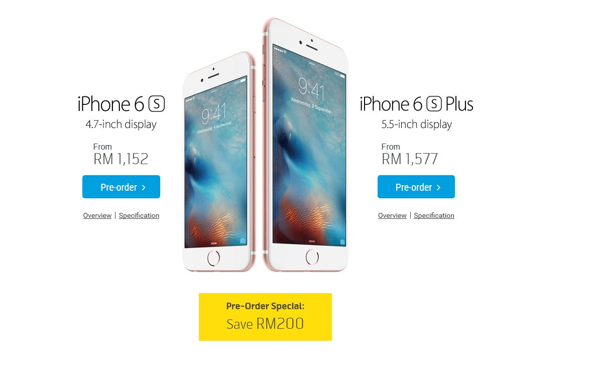 Maxis and Digi reveal iPhone 6s and iPhone 6s Plus pricing