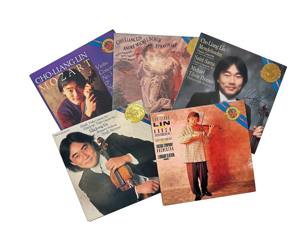 Some of Lin's recordings which have won him accolades.