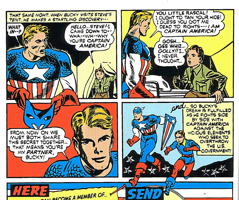 Apparently, all you need to do to become a superhero's sidekick is to walk in on him when he's changing.