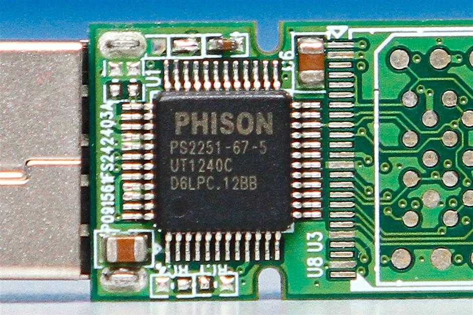A USB flash controller the company developed.