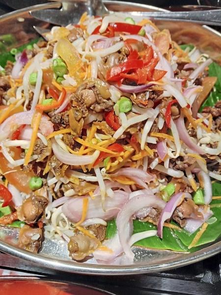 Kerabu Kerang is a delicious starter at the buffet.