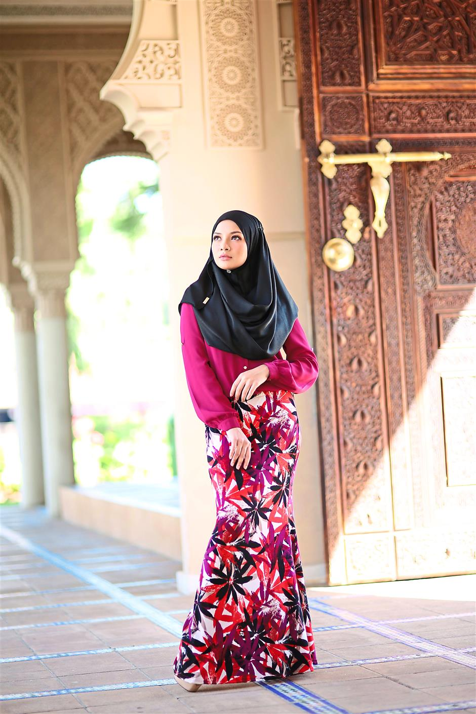 Rising entrepreneur: Neelofa is always thinking of ways to increase the sales of her hijab collection.