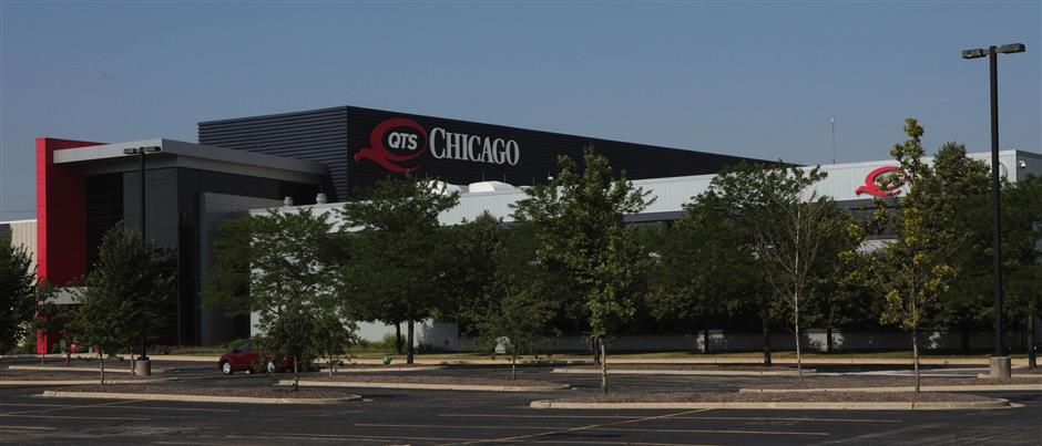 QTS data center, formerly the Sun-Times printing plant, at 2800 S. Ashland Ave. in Chicago, Ill. on Tuesday, July 10, 2018. (Antonio Perez/ Chicago Tribune/TNS)