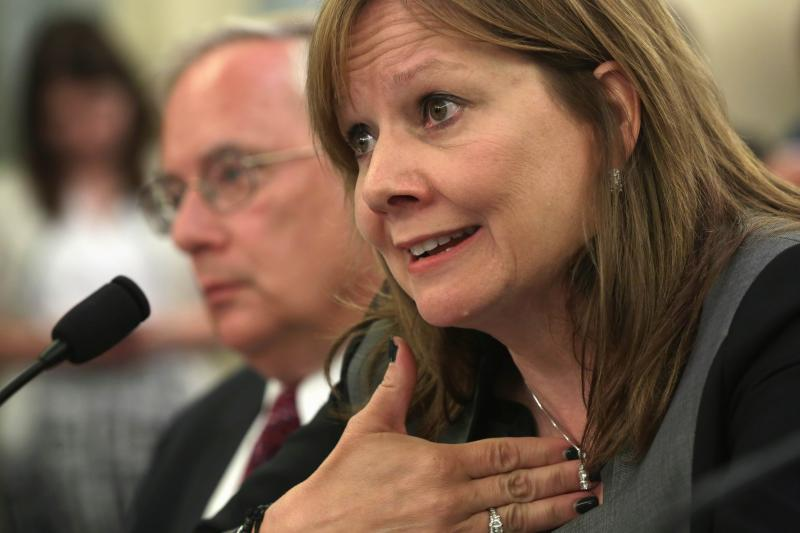 General Motors says it will produce its first car that can communicate with other vehicles and help avoid accidents and ease traffic congestion in two years' time, chief executive Mary Barra said - AFP Photo.