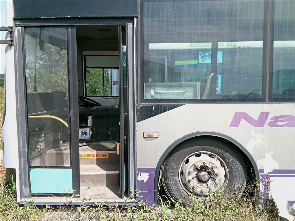 Many of the buses at the Nadi Putra bus depot in Precinct 9 are in a bad state after having been left there for a prolonged period.