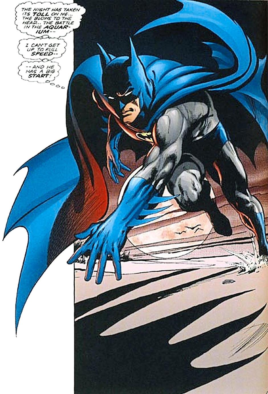 One of Batman's most iconic panels, drawn by Neal Adams for Batman: Son Of the Demon.