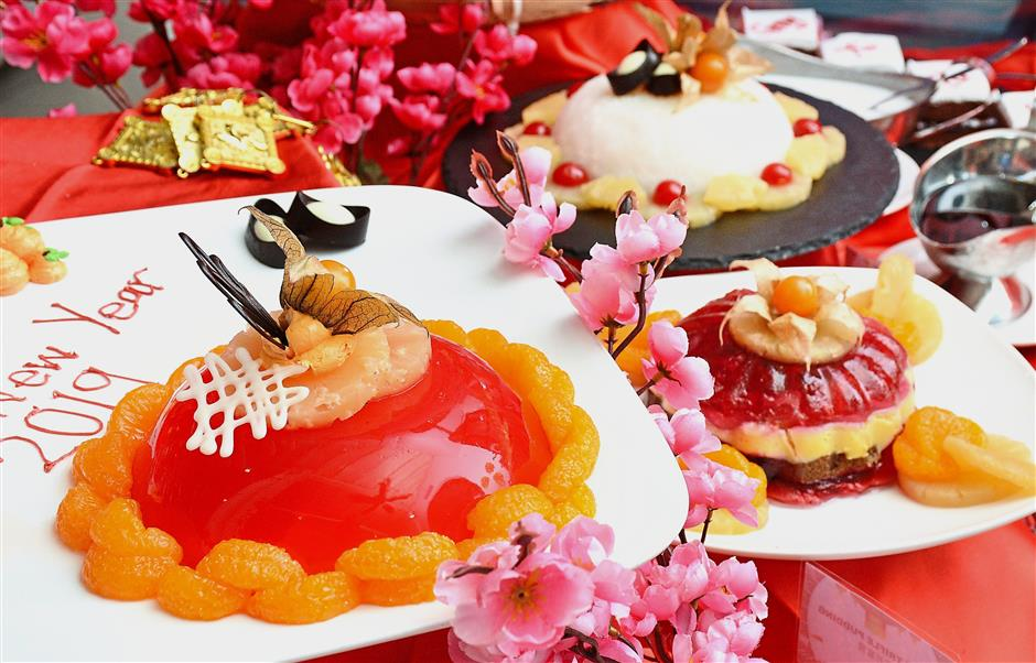 Dig into the auspicious selection of Chinese New Year-themed desserts.