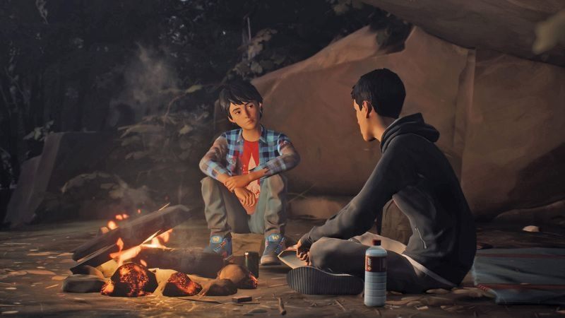 SCREENSHOT - In the episodic game 'Life is Strange 2,' Sean Diaz, 16, and his brother Daniel, 9, go on the run after a dispute with the police, following the West Coast of the United States down to Mexico. Photo: Square Enix/Nintendo/dpa