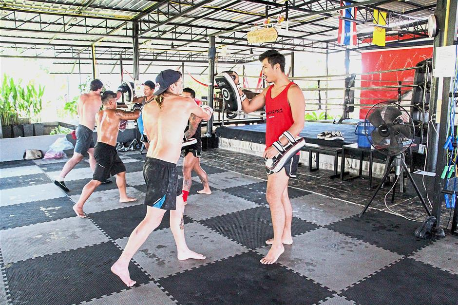 Fitness coordinator Jenkins says they take the guys out to the Bangarang gym and train together – three two-hour sessions a week at the gym, and twice a week there's triathlon training which involves cycling, running and swimming.
