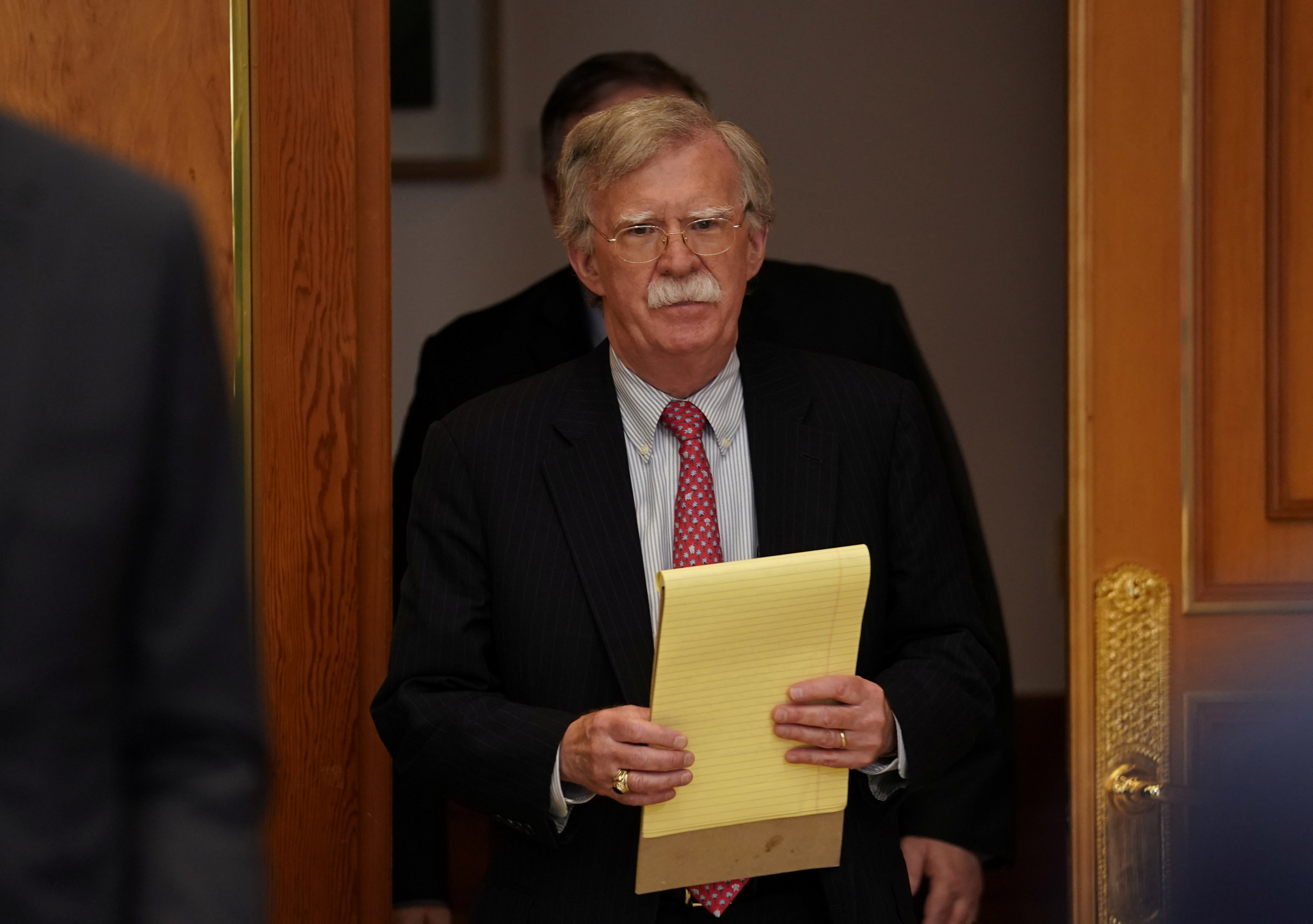 FILE PHOTO: U.S. National Security Adviser John Bolton attends a meeting between U.S. President Donald Trump and South Korean President Moon Jae-in at the Blue House in Seoul, South Korea, June 30, 2019. REUTERS/Kevin Lamarque