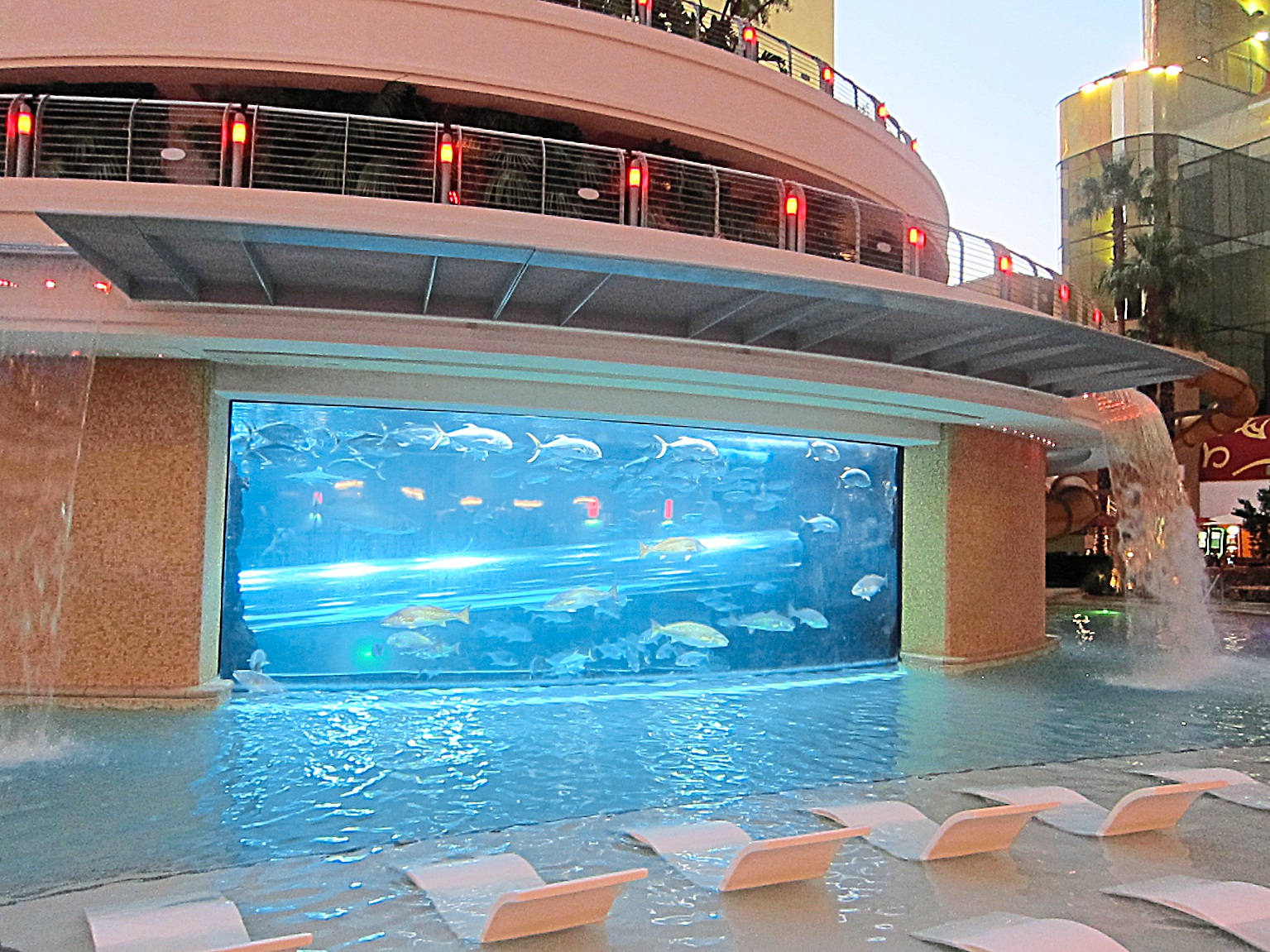 Rooms are comfortable and large and the pool area is fantastic with a shark tank in the middle!