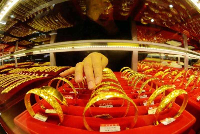 Spot gold climbed to US$1,226.16 an ounce u2013 its highest since Dec 12, before settling up 0.2% at US$1,224.70 by 0035 GMT.