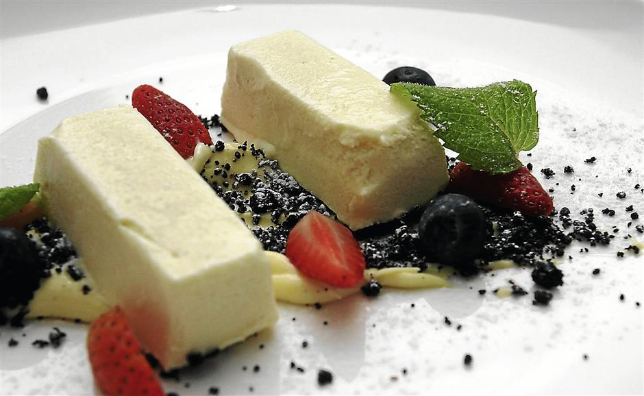 Sweet treats: The restaurant serves a range of appetisers, mains and desserts.