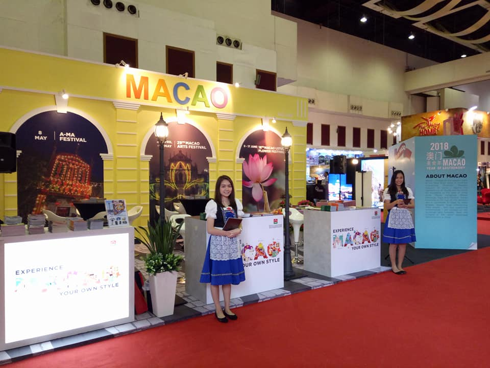 Make a stop at the Macao booth located at Hall 1 at PWTC from Mar 16 to 18